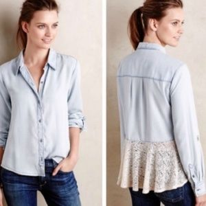 Anthropologie/holding horses lace chambry